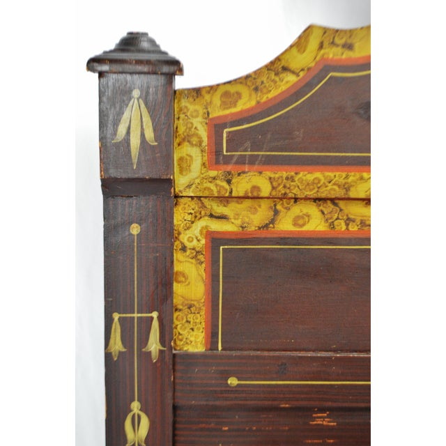 Paint Vintage Hand Painted Wood Bed - Full Size For Sale - Image 7 of 11