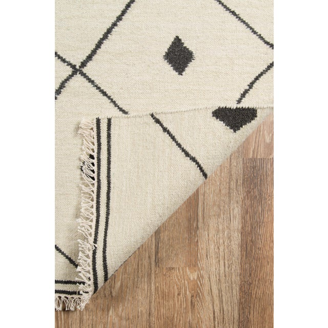 """Erin Gates by Momeni Thompson Appleton Ivory 5' X 7'6"""" Hand Woven Wool Area Rug - 5′ × 7′6″ For Sale In Atlanta - Image 6 of 8"""