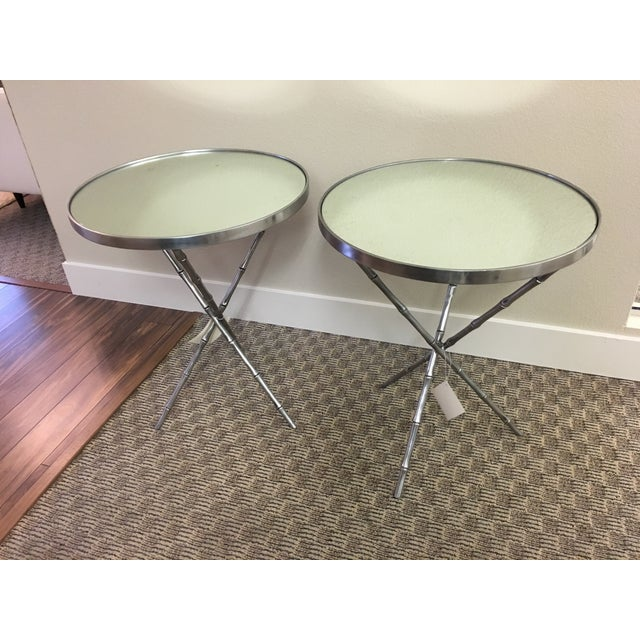 Emerson Bentley Bamboo Chairside Tables - A Pair - Image 2 of 4