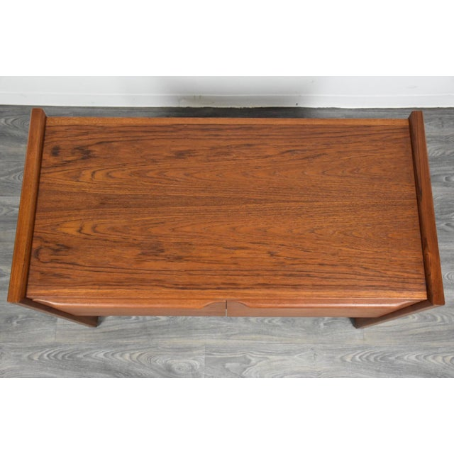 Danish Teak MCM Filing Cabinet For Sale - Image 4 of 11