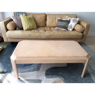 1980s Modern Tiered White-Washed Solid Wood Coffee Table Preview