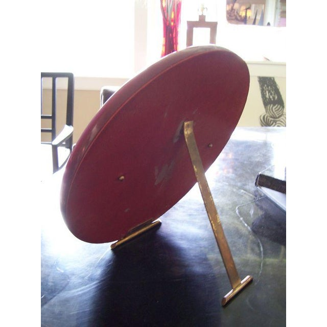 Mid-Century Modern A Deco Eggplant Colored Bakelite Vanity Mirror For Sale - Image 3 of 4