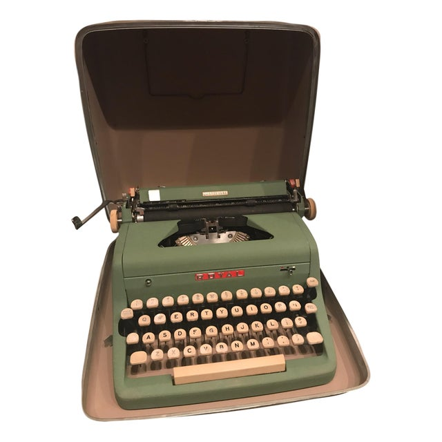 Mid-Century Modern Green Royal Typewriter & Case - Image 5 of 5
