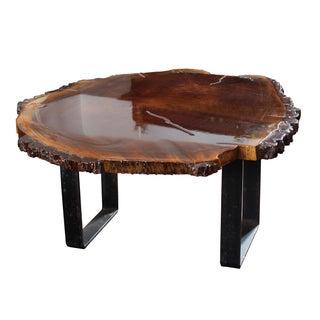 Black Walnut Slab Coffee Table For Sale