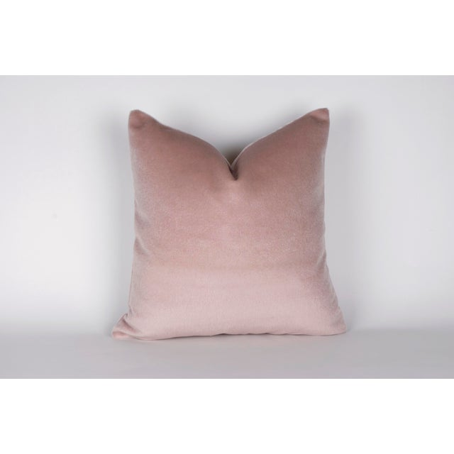 Offered is a 100% mohair pillow in blush pink. Hidden zipper and overlocked edges for a professional finish. Same fabric...