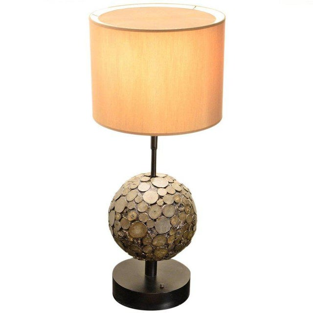 1970s Ado Chale, Table Lamp in Marcassite, Circa 1970 For Sale - Image 5 of 5