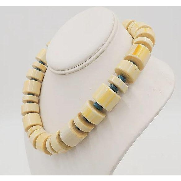 Monet Beaded Ad Piece Necklace, 1982 For Sale In Philadelphia - Image 6 of 7