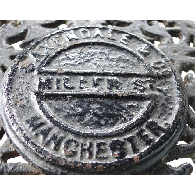 19th Century Antique English Cast Iron & Oak Library/Pub Table For Sale - Image 9 of 11