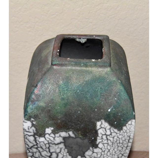 Tony Evans Raku Fired Studio Pottery Decorative Art Vase For Sale In Palm Springs - Image 6 of 9