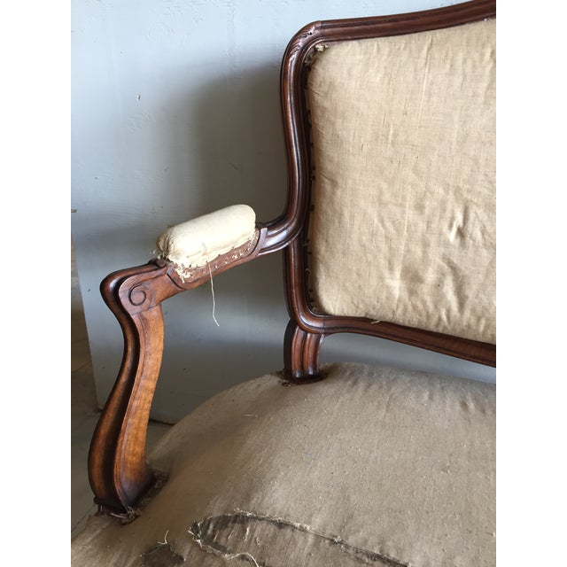 Antique Louis XV Carved Walnut Settee Loveseat - Image 7 of 11