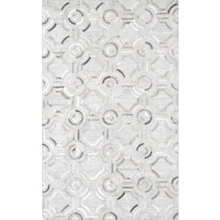 Pasargad Modern Geometric Cowhide Rug- 8' X 10' For Sale