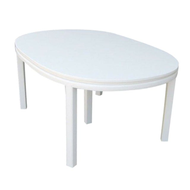 Mid-Century White Lacquer Dining Table - Image 1 of 3