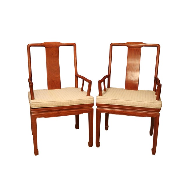 """Asian 1980's Chinese Rosewood 'Ming' Style Dining Set, Table & Eight Chairs (44""""-80"""") For Sale - Image 3 of 9"""