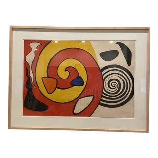 1965 Alexander Calder Spirals & Forms Print For Sale