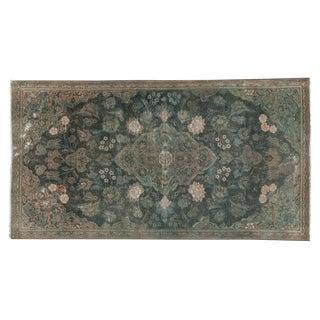 """Vintage Distressed Fragment Kashan Rug - 2'10"""" X 5'4"""" For Sale"""