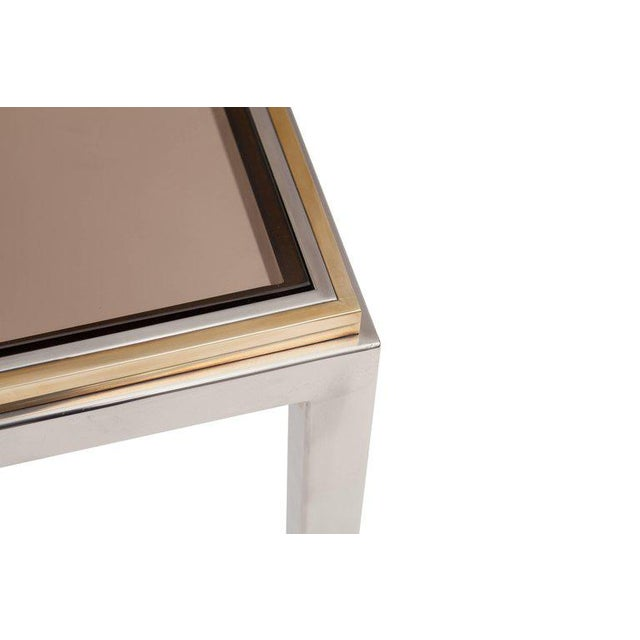 "1970s Willy Rizzo ""Flaminia"" Brass and Chrome Dining Table, 1970s For Sale - Image 5 of 7"