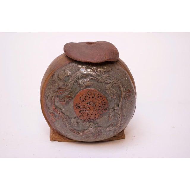 "1970s ""Femina El Fera"" Figural Studio Stoneware Vase / Candleholder Signed Polk For Sale - Image 5 of 13"