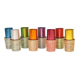 Sleeved Aluminum Tumblers, Set of 8 For Sale