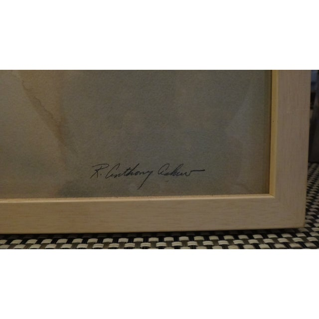 Framed Watercolor Print by Anthony Askew - Image 6 of 8