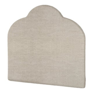 The Crown Headboard - Queen - Kate - Belgian Linen, Oatmeal For Sale