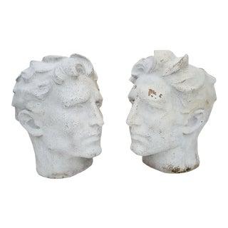 70's Sculptural Fiberglass Planters A Pair . For Sale