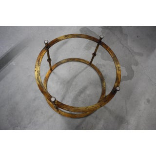 Mid-Century Round Gilt Iron and Glass Coffee Tables / Side Tables - a Pair Preview