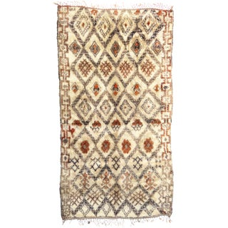 "Vintage Moroccan Marmoucha Rug - 6'10"" x 11'4"" For Sale"