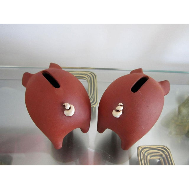 1960s Danish Pottery Piggy Banks - A Pair For Sale - Image 5 of 8