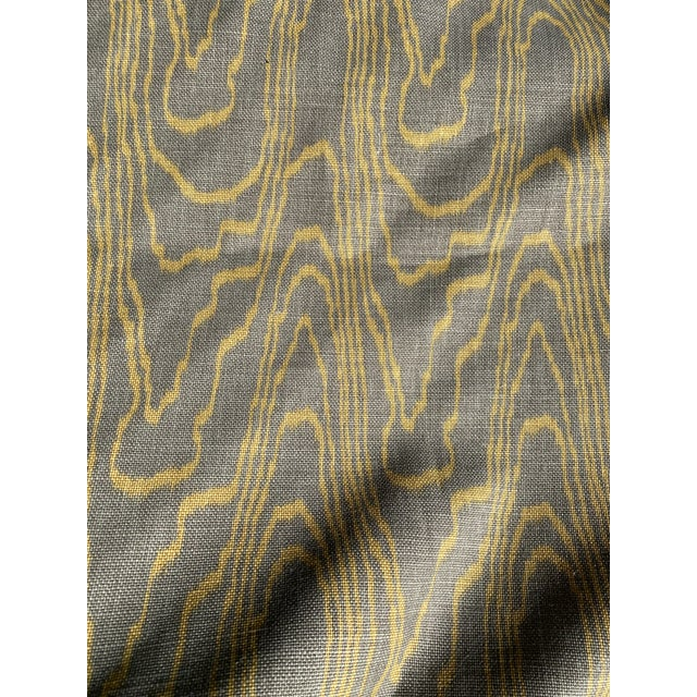 New and un-unused vintage to-the-trade-only heavy 100% linen fabric by a famous Hollywood designer for Lee Jofa's...