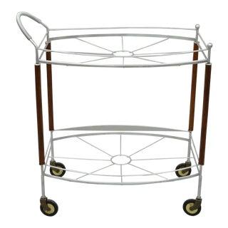 Vintage Mid Century Modern Atomic Era Bar Cart For Sale