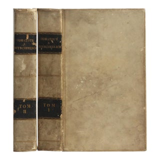 Horatius a Mitscherlich : Set of Two Decorative Books in Tan