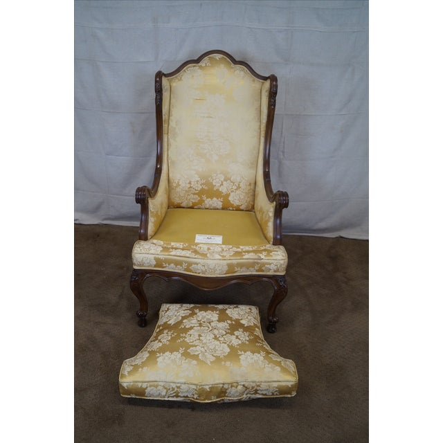 Louis XV Carved Walnut Wing Chair - Image 7 of 10