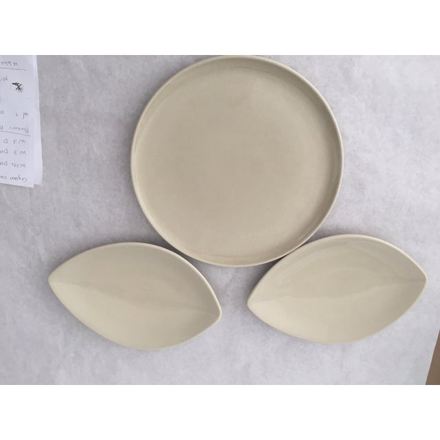 Mid-Century Pfaltzgraff large platter with 2 smaller platters. Perfect for appetizers and hors d'oeuvres. Great for your...
