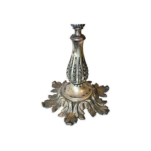 Antique French Bronze Candelabra - A Pair For Sale - Image 4 of 6