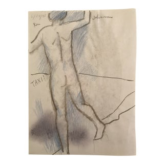Male Nude Hailing a Taxi, 1990s For Sale