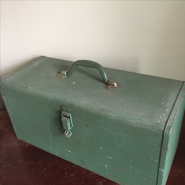 Vintage Green Kennedy Tool Box For Sale - Image 7 of 11