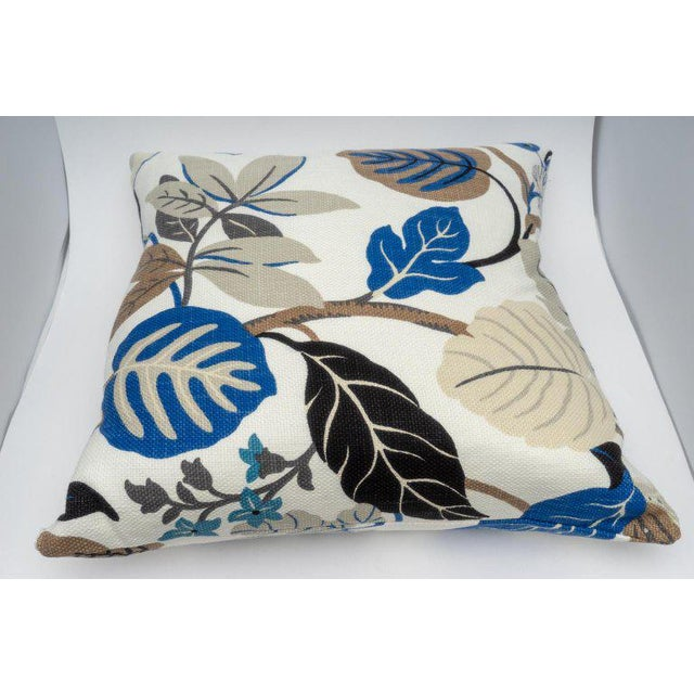 Modern Bespoke Floral Pillows - a Pair For Sale - Image 3 of 11