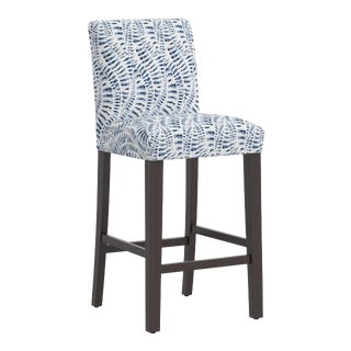 Bar stool in Snake Skin Blue For Sale