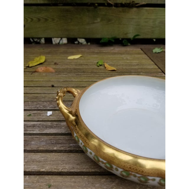 Late 19th Century Antique Limoges Elite Serving Bowl With Handles For Sale - Image 5 of 10