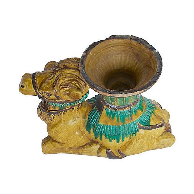 Green Terracotta Camel Planter For Sale - Image 8 of 13