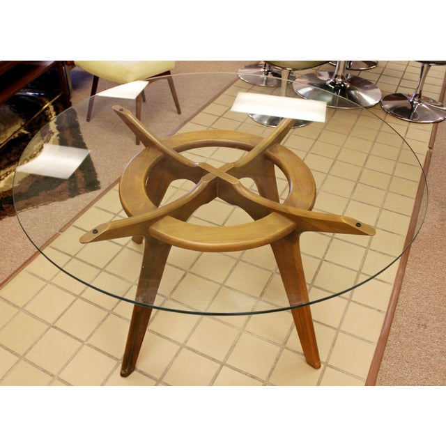 Adrian Pearsall Mid Century Modern Adrian Pearsall Compass Dinette Dining Table & 4 Chairs 1960s For Sale - Image 4 of 12