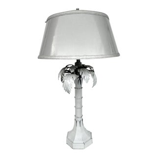 Mid-Century Metal Palm Tree Table Lamp For Sale