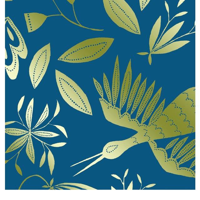 Julia Kipling Otomi Grand Wallpaper, 3 Yards, in Virgo, Gold Flash For Sale