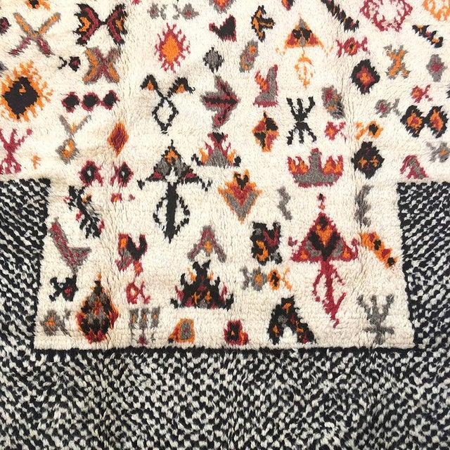 "Vintage Tribal Berber Wool Checkerboard Rug-5'2"" X 8'8"" For Sale In New York - Image 6 of 10"