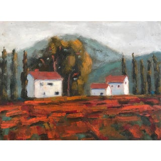 """""""Fall Vines"""" Plein Air Oil Painting For Sale"""