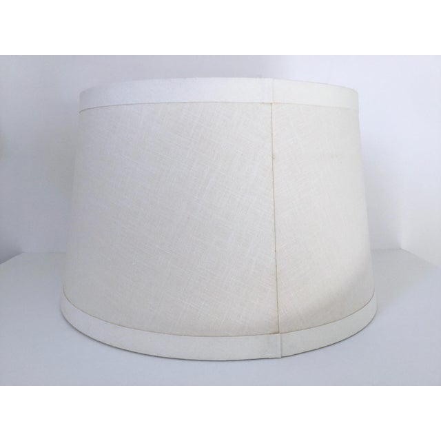 Pottery barn ivory linen tapered drum lamp shade chairish pottery barn ivory linen tapered drum lamp shade image 4 of 11 aloadofball Choice Image