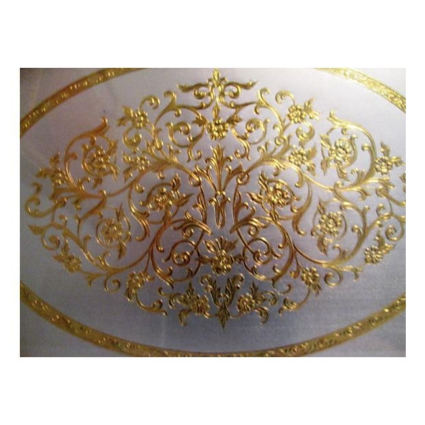 Midcentury Filigree Gold & Silver Foil Vanity Tray For Sale - Image 4 of 7
