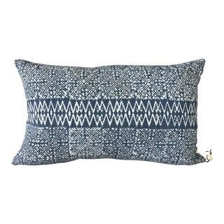 Vintage Indigo Blue Batik Pillow