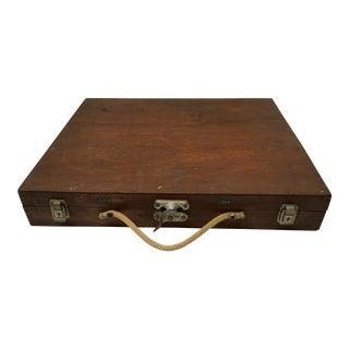Vintage Handcrafted Primitive Artist's Case