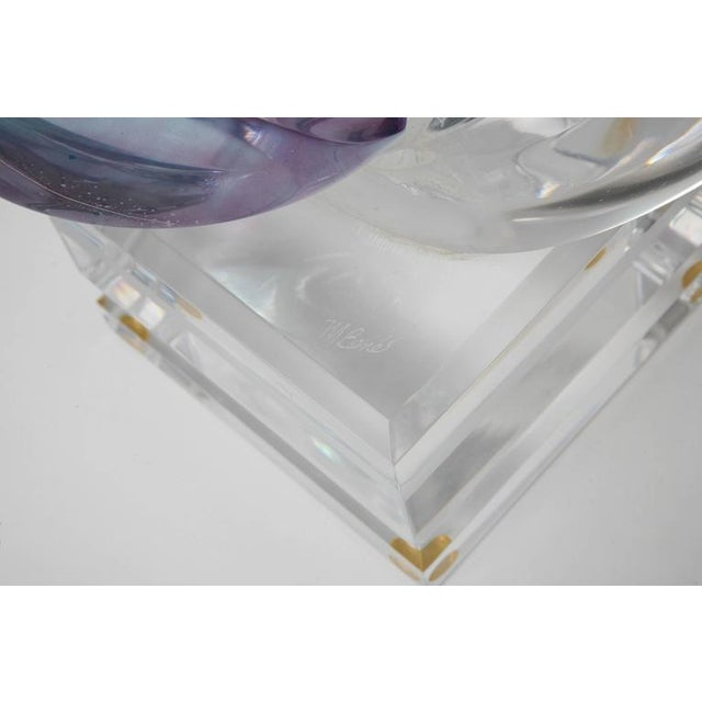 Blue Michael Bene Multi-Colored Lucite Two Lovers Embracing Sculpture For Sale - Image 8 of 10